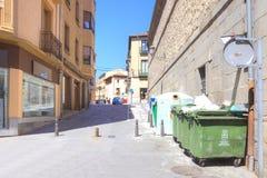 segovia 西班牙 都市的横向 免版税库存照片