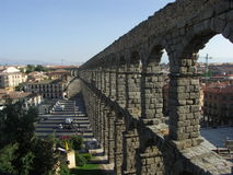 Segovia. View on the aquaduct of Segovia, Spain Royalty Free Stock Photography