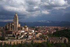 Segovia. View on the historic town and former capital of Spain, Segovia stock image