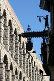 Segovia. Roman aqueduct in Spanish town of Segovia Royalty Free Stock Photos