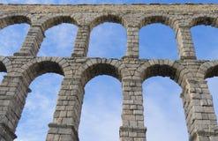 Segovia acqueduct - Spanien Lizenzfreies Stockbild