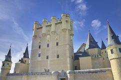 Segovia Alcazar Castle. Ancient Royal palace in Segovia Spain Royalty Free Stock Images