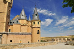 Segovia alcazar castle. Castile, Spain. Spanish medieval architecture Stock Photo