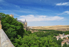 Segovia alcazar castle and country. Castile, Spain Stock Photos
