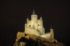 Segovia Alcazar Castle at night. Ancient  palace. Stock Photo