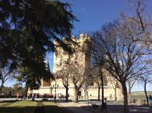 Segovia alcazara obraz royalty free