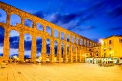 Segovia, alter Roman Aqueduct, Spanien Stockfoto