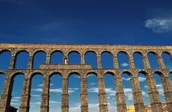 Segovia-Aquädukt stockbild