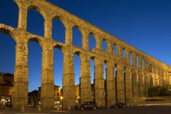 Segovia Aquaduct romano - Spagna Fotografia Stock Libera da Diritti