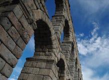 Segovia Aqueduct. View of Segovia Aqueduct, Spain Stock Photography