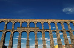 Segovia Aqueduct. View of Roman Aqueduct Segovia, Spain Stock Image