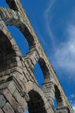 Segovia Aqueduct. View of Roman Aqueduct Segovia, Spain Royalty Free Stock Images