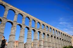 Segovia Aqueduct. Views of the Aqueduct of Segovia, Spain Royalty Free Stock Photos