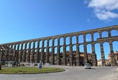 Segovia Aqueduct. A view of the roman aqueduct of Segovia Royalty Free Stock Photos