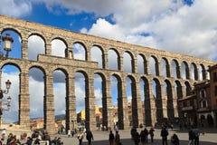 Segovia Aqueduct. A view of the roman aqueduct of Segovia Royalty Free Stock Photography
