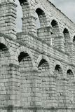 Segovia Aqueduct in black and white Stock Images