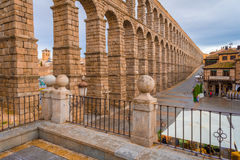 Segovia aqueduct. The aqueduct of Segovia, Spain, was built during the roman empire and stands as it was conceived until today. The aqueduct is built of brick Royalty Free Stock Photos