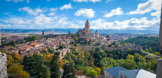 Segovia as seen from rooftop at Alcazar. Royalty Free Stock Photo