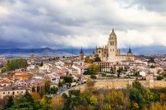 Segovia - beautiful medieval town of Spain stock photos