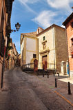 Segovia, Castile, Spain. City alley Stock Images