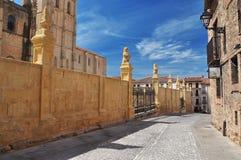 Segovia, Castile, Spain. City street view stock image