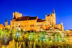 Segovia, Castilla y Leon, Spain - Alcazar at twilight Royalty Free Stock Photography