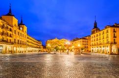 Segovia, Castilla y Leon, Spain. Segovia, Spain. Plaza Mayor in Segovia, a city in the autonomous region of Castilla y Leon, Spain royalty free stock image