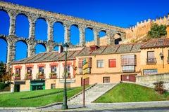 Segovia, Castille, Spanien Stockbilder