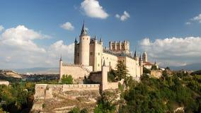 Segovia Castle στην Ισπανία απόθεμα βίντεο