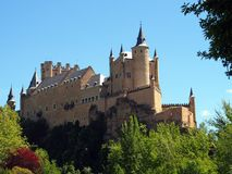 Segovia Castle, Spain. The Segovia Castle (Alcazar), Spain, was built and rebuilt  from the early twelfth century,  It is reportedly one of the inspirations for Royalty Free Stock Image