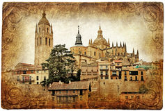 Segovia cathedral Royalty Free Stock Photos