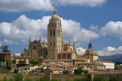 Segovia cathedral Stock Photos