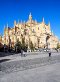 Segovia cathedral with blue sky Stock Image