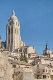 Segovia Cathedral at Castile and Leon, Spain Royalty Free Stock Photography