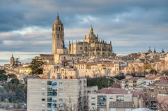 Segovia Cathedral at Castile and Leon, Spain stock photography