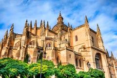 Segovia Cathedral in Castilla, Spain Stock Image