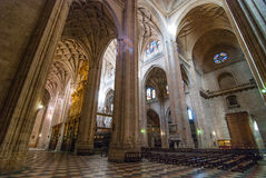 Interior of the huge Segovia Cathedral Royalty Free Stock Image