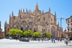 Segovia. Cathedral of Saint Maria Stock Photos