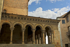 Segovia Church of San Martin Royalty Free Stock Photo