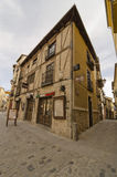 Segovia, a corner. SEGOVIA, SPAIN - MARCH 3, 2013: a traditional restaurant in Segovia. With the nearby Madrid, Segovia is a popular destination for small-scale Stock Photos