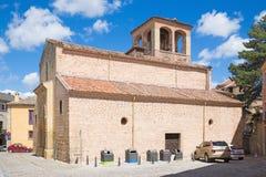 Segovia - den romanska kyrkliga Iglesiaen de San Sebastian Royaltyfri Fotografi