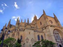 Segovia domkyrka royaltyfria bilder