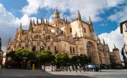 Segovia domkyrka fotografering för bildbyråer