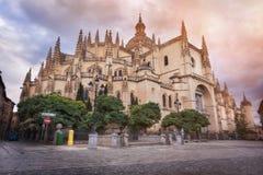 Segovia domkyrka, Castilla y Leon, Spanien arkivbilder