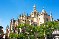Segovia domkyrka nära till Madrid, Spanien Arkivfoto