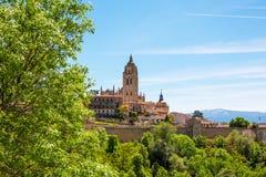 Segovia domkyrka nära till Madrid, Spanien Fotografering för Bildbyråer