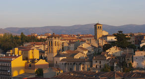 Segovia at dusk Royalty Free Stock Image