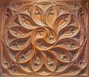 SEGOVIA, ESPANHA, ABRIL - 15, 2016: O detalhe cinzelado de coro gótico na catedral Nuestra Senora de la Asuncion y de San Frutos Foto de Stock Royalty Free