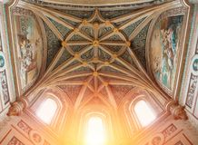 SEGOVIA, ESPANHA - 11 DE FEVEREIRO DE 2017: C decorado gótico bonito imagem de stock
