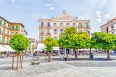 SEGOVIA, ESPANHA - 6 DE SETEMBRO DE 2015: Prefeito da plaza em Segovia Sego Imagem de Stock